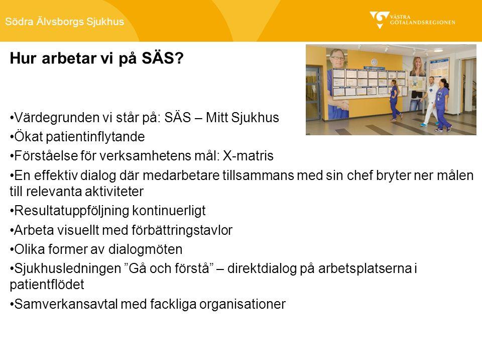 Södra Älvsborgs Sjukhus Hur arbetar vi på SÄS.