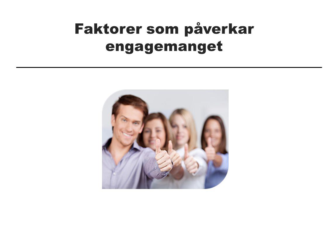 Faktorer som påverkar engagemanget