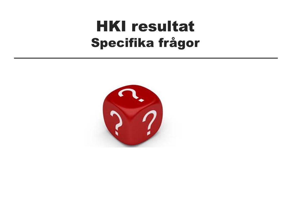 HKI resultat Specifika frågor