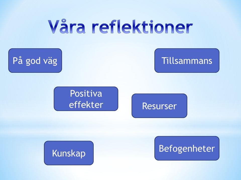 På god vägTillsammans Resurser Befogenheter Kunskap Positiva effekter