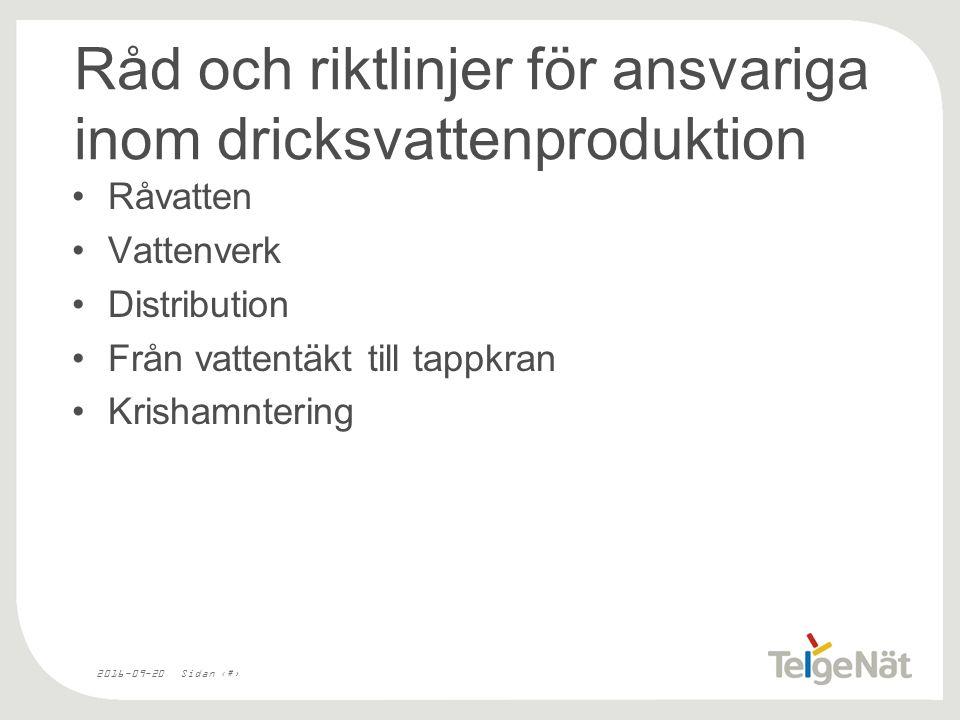 2016-09-20Sidan 6 Riskanalys Mälaren Malmsjöåsen Södertälje sluss Saltsjön-Mälaren Reservvatten