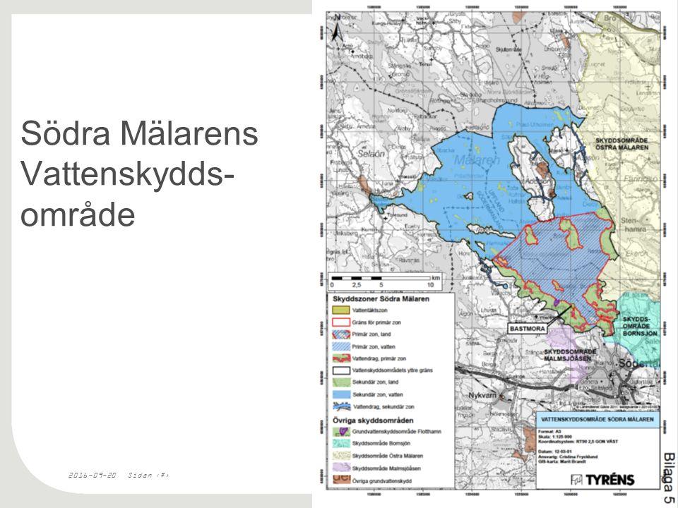2016-09-20Sidan 9 Södra Mälarens Vattenskydds- område