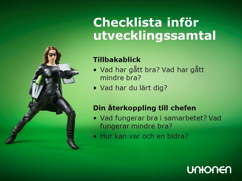 Checklista inför utvecklingssamtal Framtiden Mål.Egna planer.
