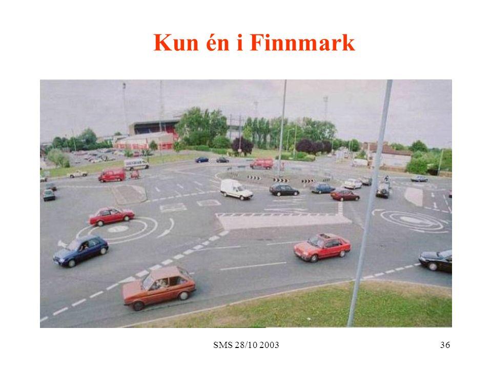 SMS 28/10 200336 Kun én i Finnmark