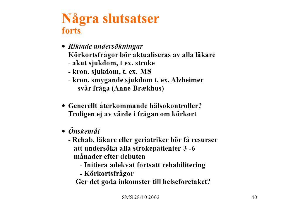 SMS 28/10 200340 Några slutsatser forts.