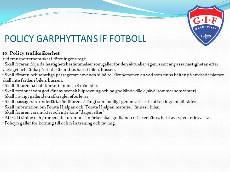 POLICY GARPHYTTANS IF FOTBOLL 11.