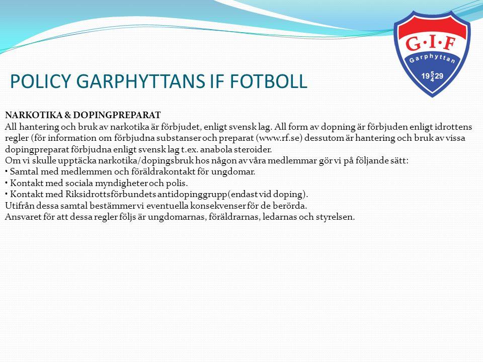 POLICY GARPHYTTANS IF FOTBOLL 12.