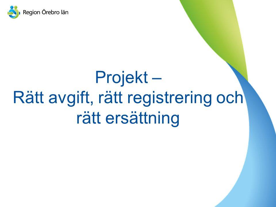 Projekt – Rätt avgift, rätt registrering och rätt ersättning