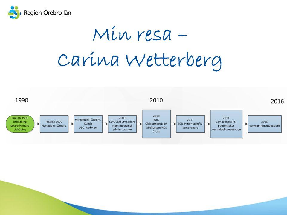 Min resa – Carina Wetterberg