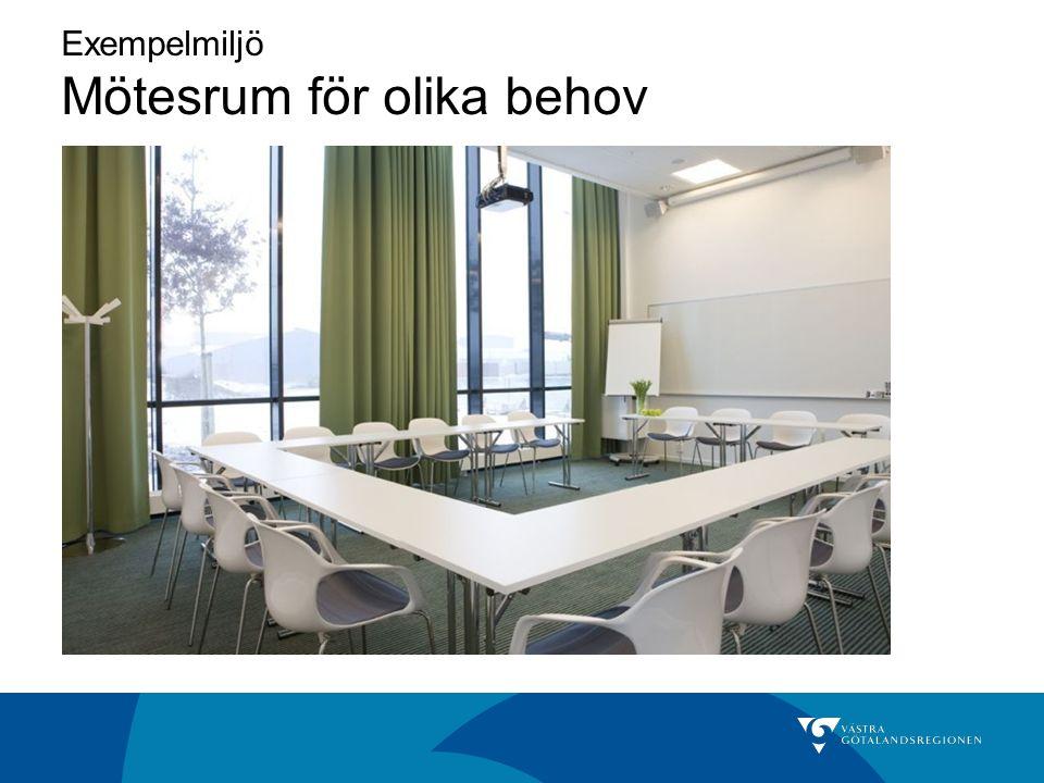 Exempelmiljö Mötesrum för olika behov