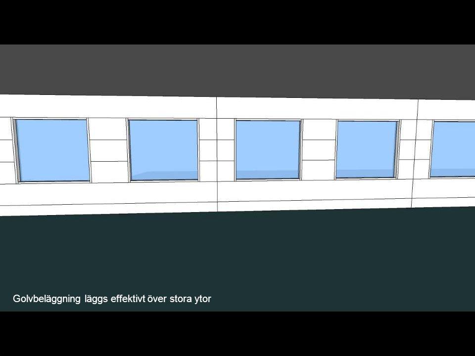 Golvbeläggning läggs effektivt över stora ytor