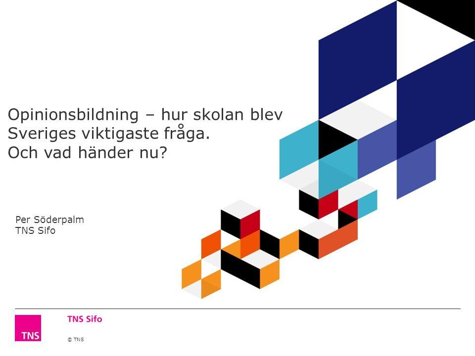 © TNS Opinionsbildning – hur skolan blev Sveriges viktigaste fråga.