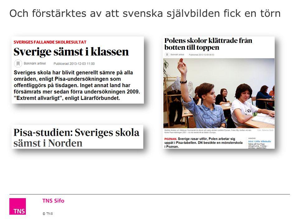 © TNS Och förstärktes av att svenska självbilden fick en törn