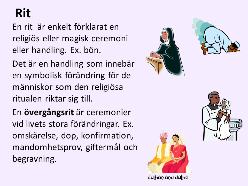 Rit En rit är enkelt förklarat en religiös eller magisk ceremoni eller handling.
