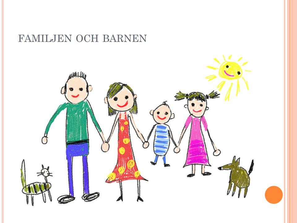 Idag finns det många olika typer av familjer, t.ex.