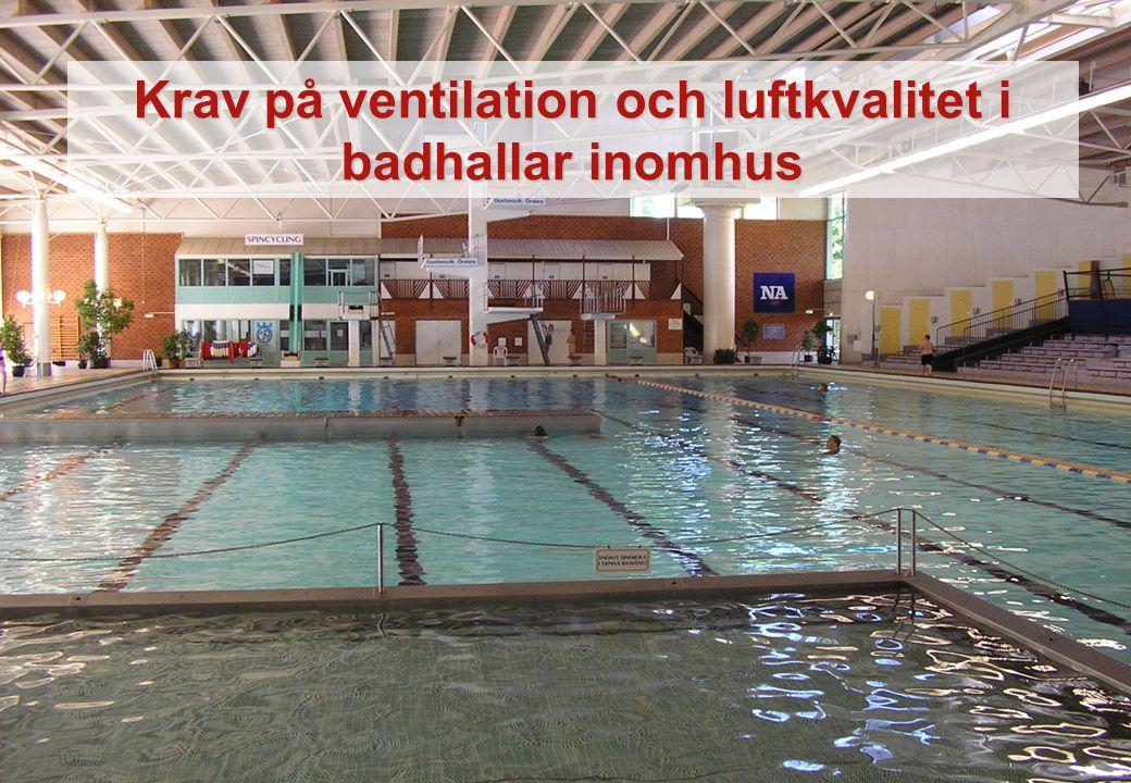 Krav på ventilation och luftkvalitet i badhallar inomhus