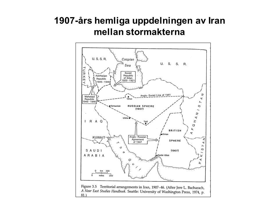 1907-års hemliga uppdelningen av Iran mellan stormakterna