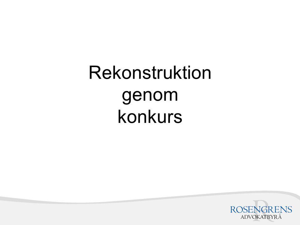 Rekonstruktion genom konkurs