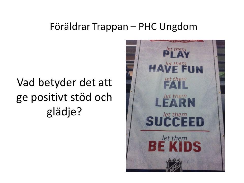 Föräldrar Trappan – PHC Ungdom Vad betyder det att ge positivt stöd och glädje
