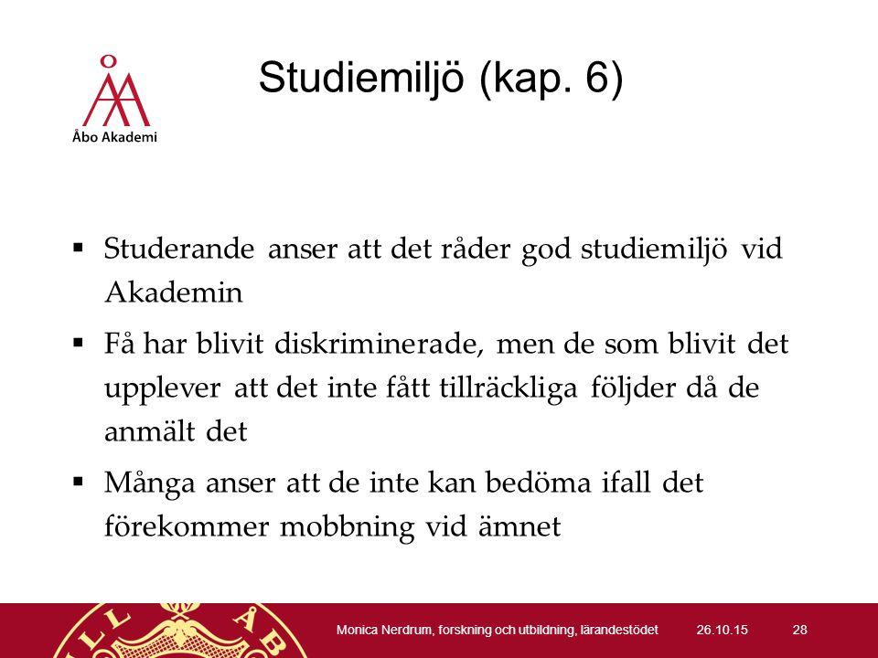 Studiemiljö (kap.