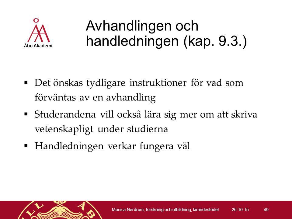 Avhandlingen och handledningen (kap.