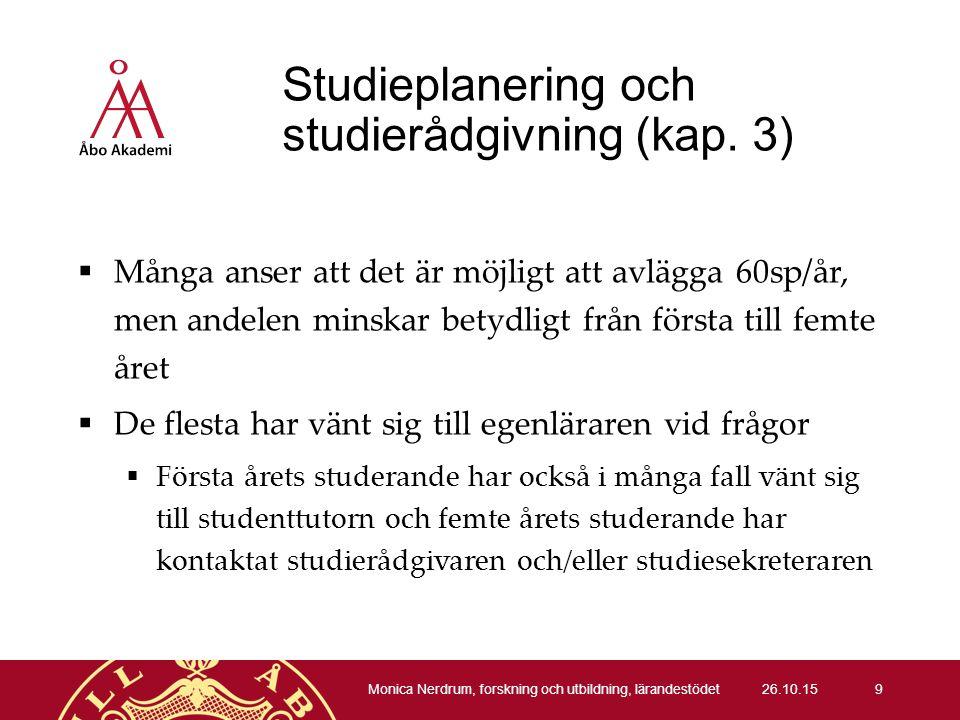 Studieplanering och studierådgivning (kap.