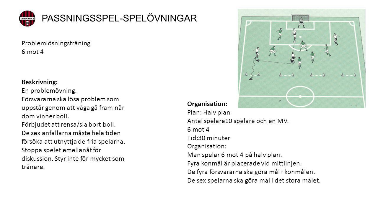 Organisation: Plan: Halv plan Antal spelare10 spelare och en MV.