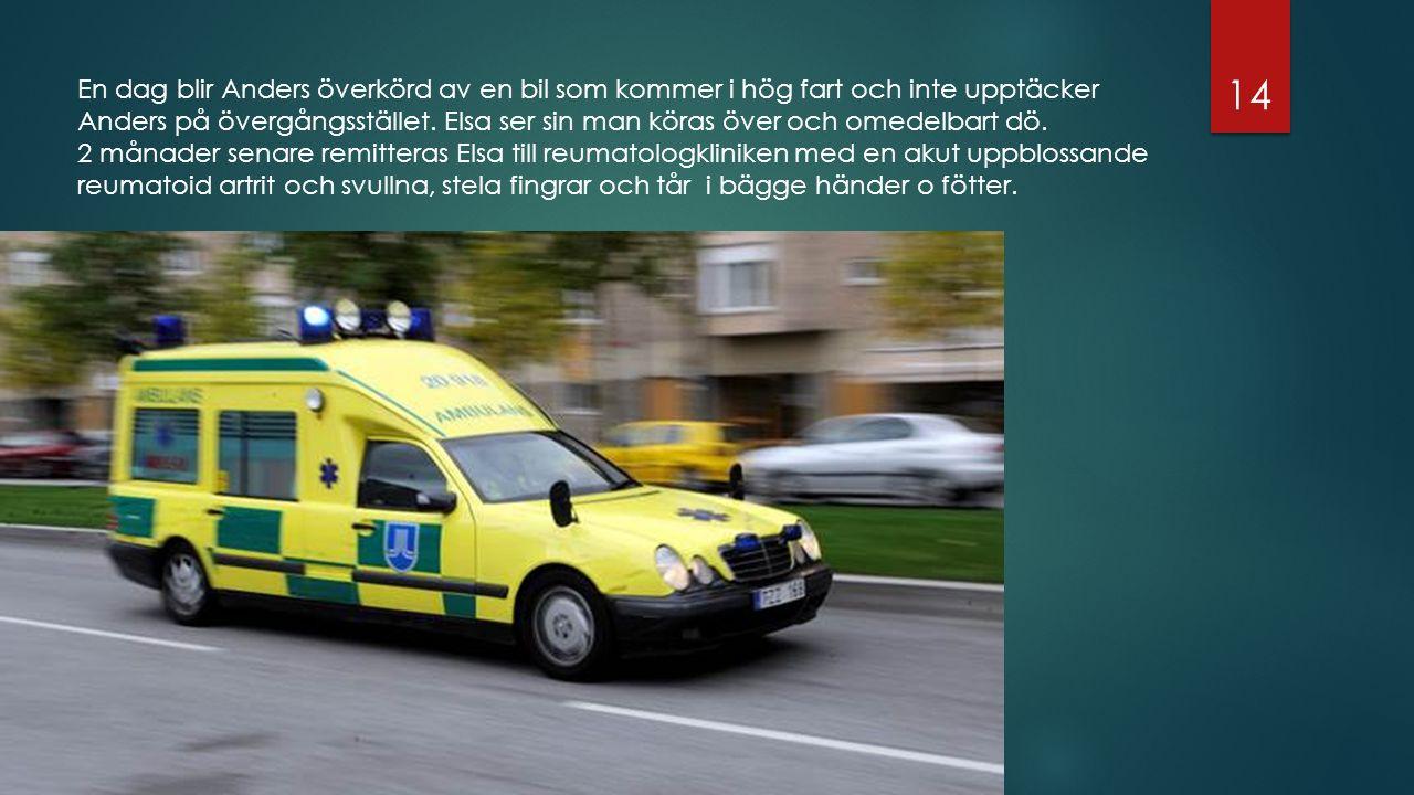 En dag blir Anders överkörd av en bil som kommer i hög fart och inte upptäcker Anders på övergångsstället.