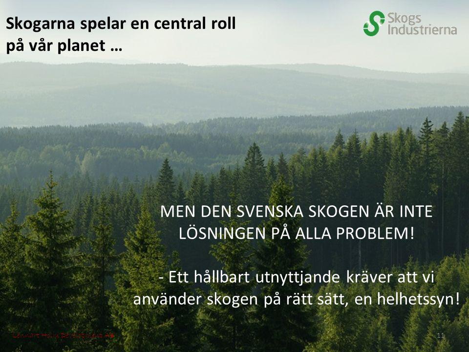 Skogarna spelar en central roll på vår planet … MEN DEN SVENSKA SKOGEN ÄR INTE LÖSNINGEN PÅ ALLA PROBLEM.