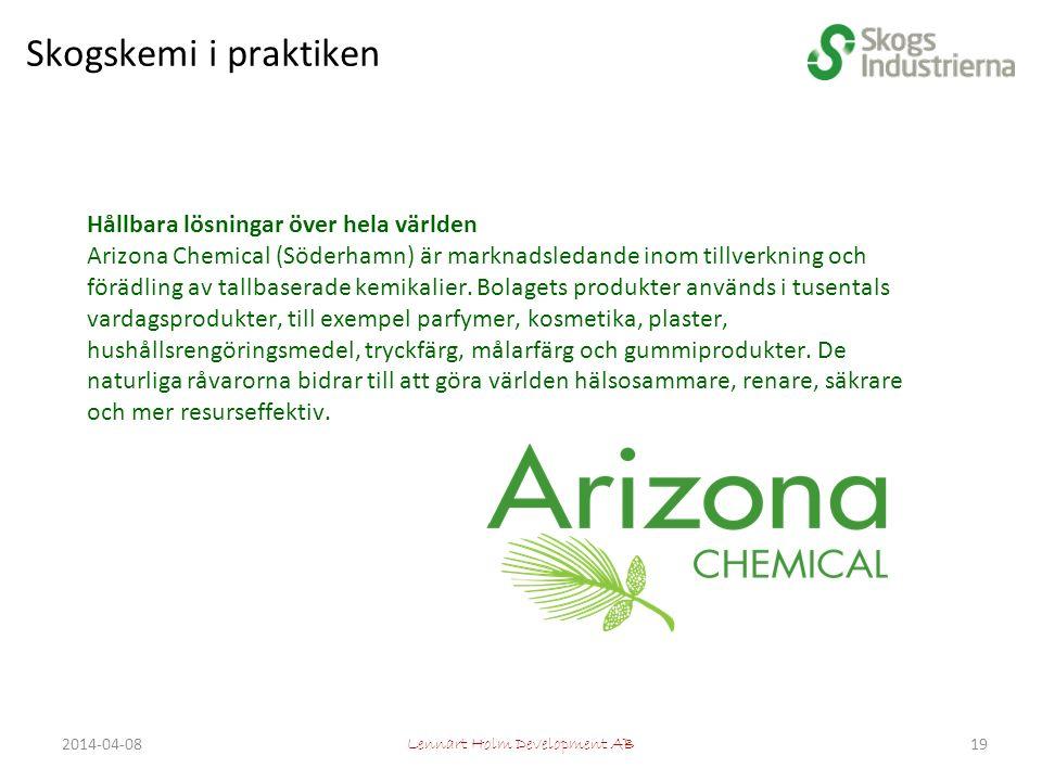 Hållbara lösningar över hela världen Arizona Chemical (Söderhamn) är marknadsledande inom tillverkning och förädling av tallbaserade kemikalier.