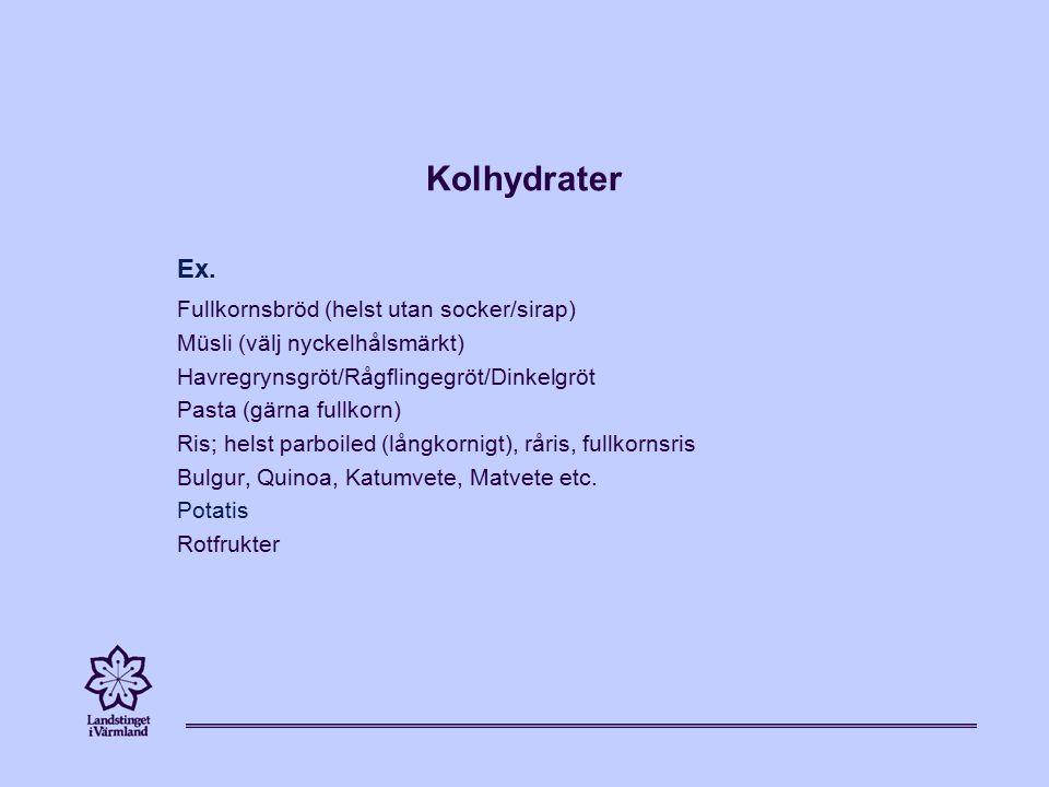 Kolhydrater Ex.