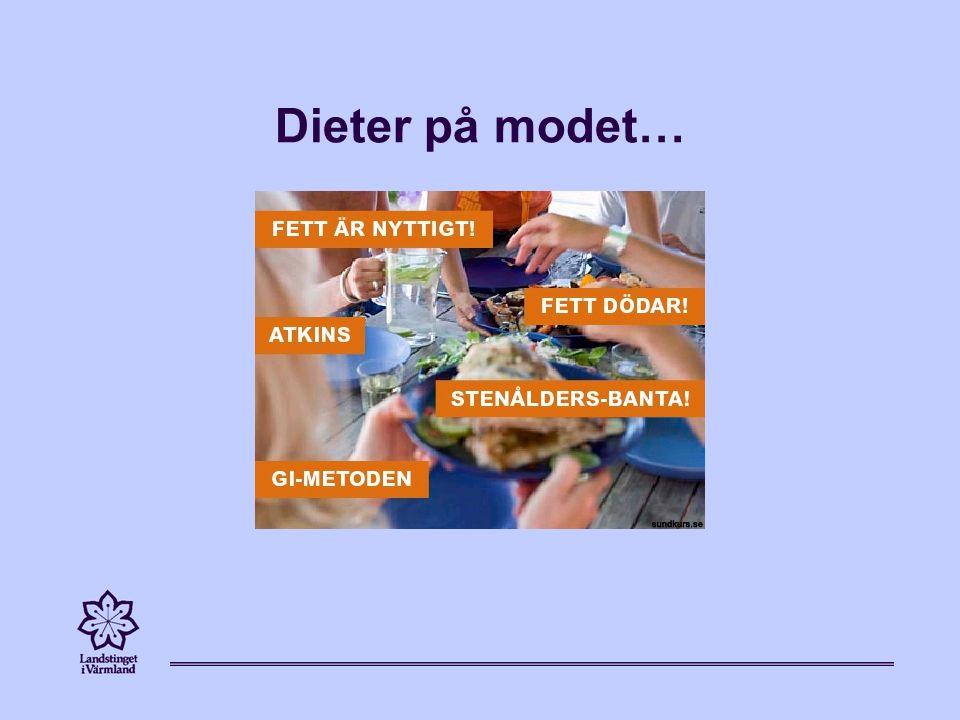 Försök få i dig alla sorters färger i en och samma måltid Ät fisk (gärna fet fisk) och skaldjur 2-3 ggr/v – för mineraler & omega - 3 fetter Välj osötade mejeriprodukter Ät rätt sorts fett; rapsolja, olivolja, fet fisk, nötter, mandlar, avokado, linfrö, solrosfrö – men överdriv ej Ät rätt sorts kolhydrater Ät magra proteinkällor; kyckling, fisk, kotlett, fläskfilé, nötfärs 10 %, nötkött, vilt, ägg, bönor, keso, kesella