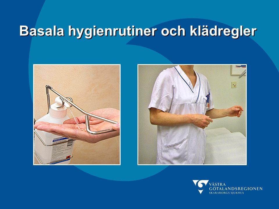 Skaraborgs Sjukhus Händerna ska desinfekteras både före och efter användning av handskar