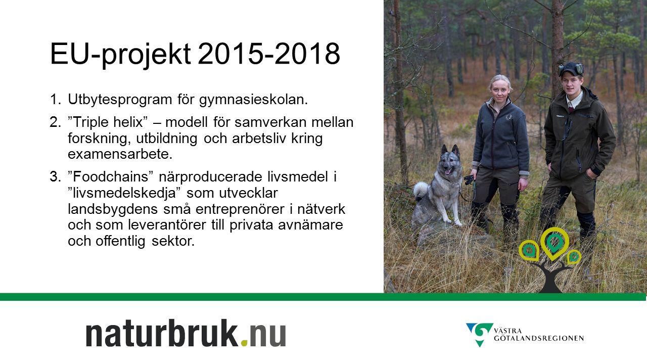 EU-projekt 2015-2018 1. Utbytesprogram för gymnasieskolan.