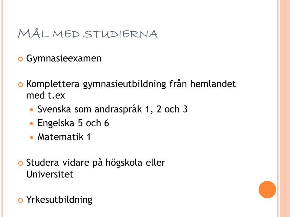 S VENSKA STEG FÖR STEG SFI – Undervisning i svenska för invandrare Svenska som andraspråk - grundläggande nivå Svenska som andraspråk 1, 2 och 3 - gymnasienivå