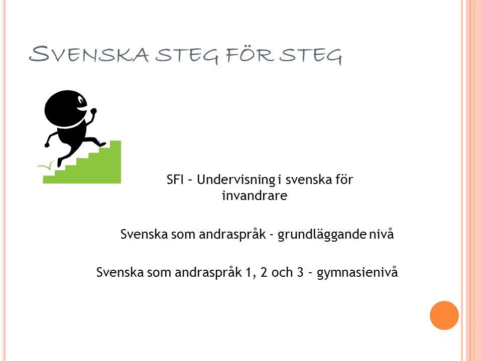 F ORTSÄTTA LÄSA PÅ CVL Svenska på grundläggande nivå Svenska som andraspråk grund (del- eller heltid) Totalt 700 poäng Matematik (grund eller gymnasienivå) Information och kommunikation 1 (gymnasienivå) Kurser på gymnasial nivå Svenska som andraspråk 1, 2 och 3 100 poäng per kurs Tillsammans med valfria kurser – alla kurser finns i vår katalog och på hemsidan www.sandviken.se/cvlwww.sandviken.se/cvl Yrkesutbildningar Alla yrkesutbildningar kräver grundläggande kompetens (svenska, engelska, matematik m.m.)