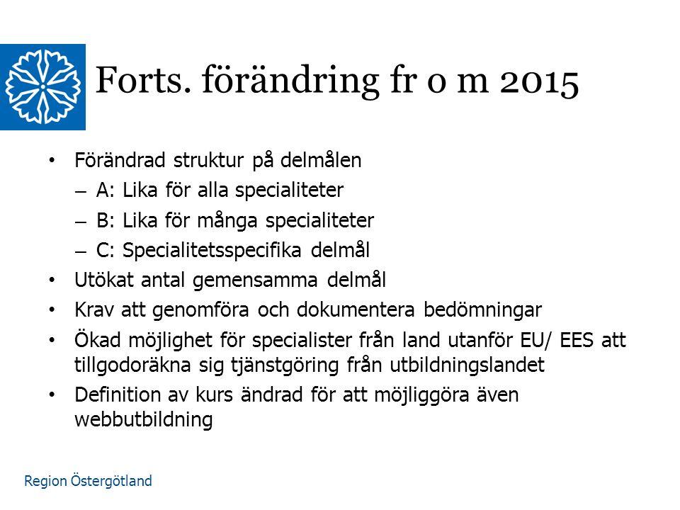 Region Östergötland Forts.