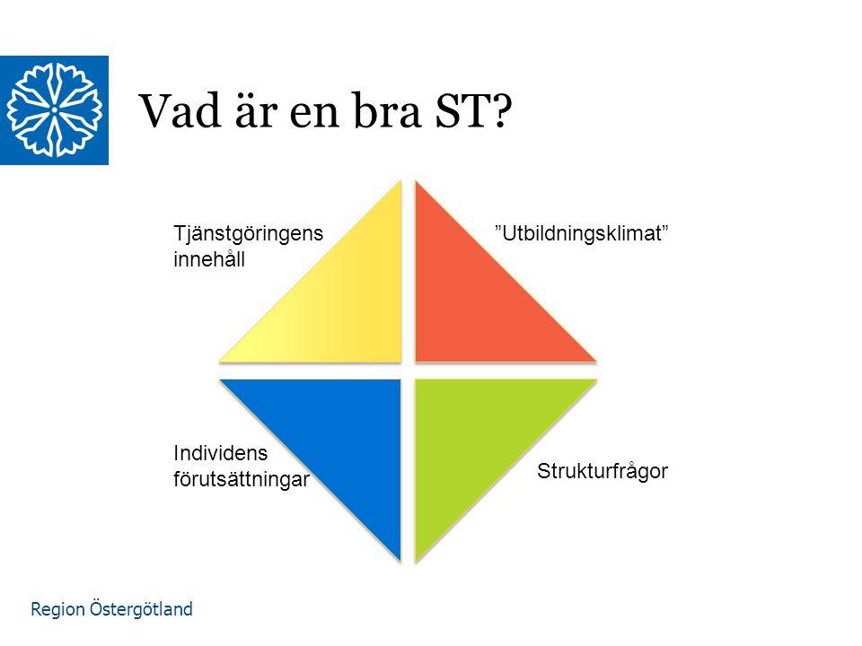 Region Östergötland Vad är en bra ST.