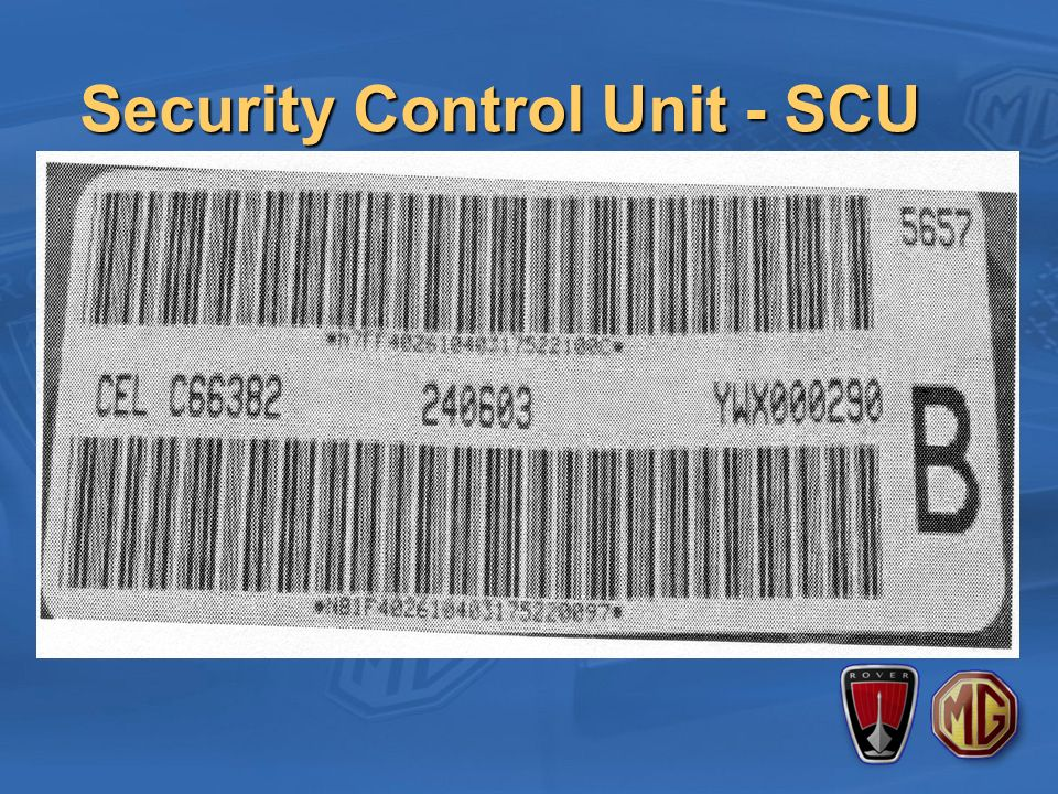 Security Control Unit - SCU