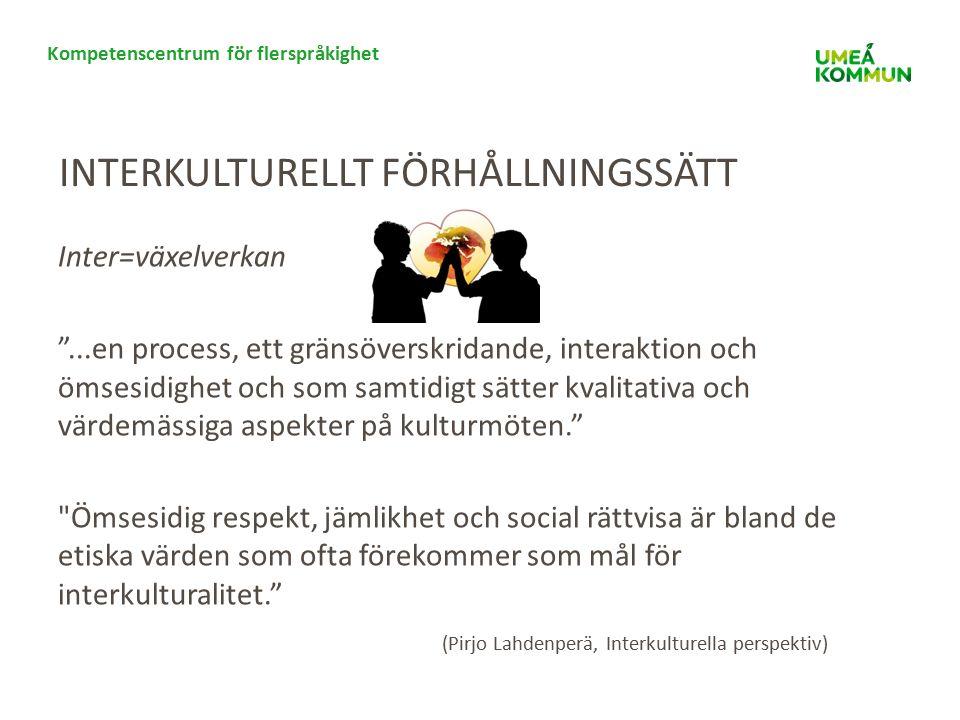 Kompetenscentrum för flerspråkighet SAMTAL Vilka är era erfarenheter av interkulturellt förhållningssätt?