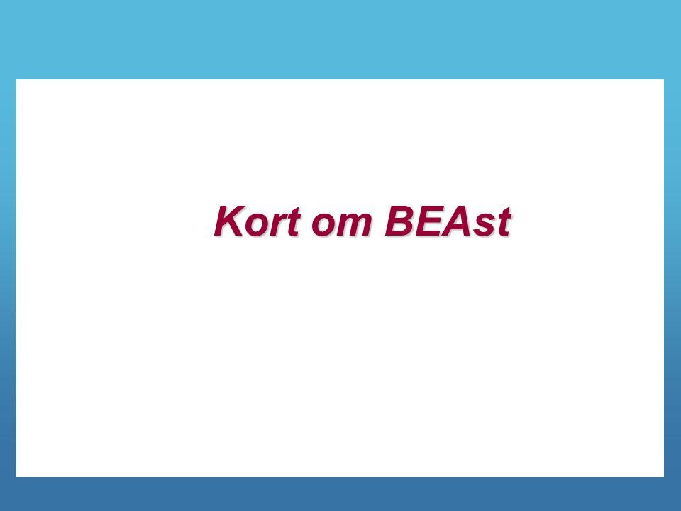3 Verksamhetsidé för BEAst BEAst tar fram standarder och tjänster för elektroniskt informationsutbyte som leder till sänkta kostnader för aktörerna i och i anslutning till byggbranschen