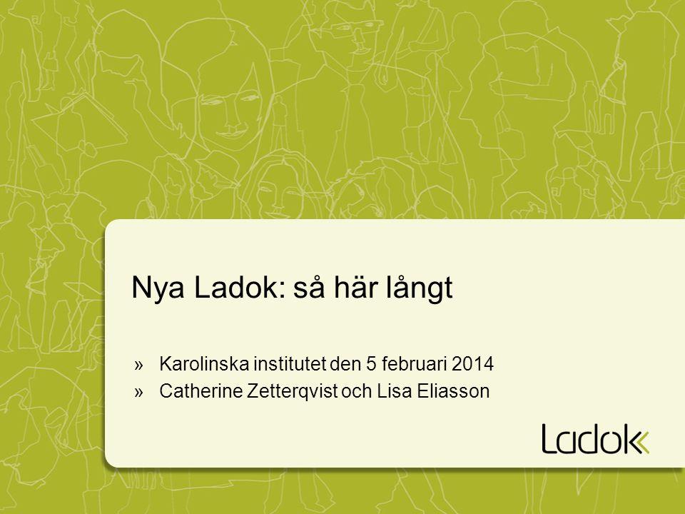 Nya Ladok: så här långt »Karolinska institutet den 5 februari 2014 »Catherine Zetterqvist och Lisa Eliasson