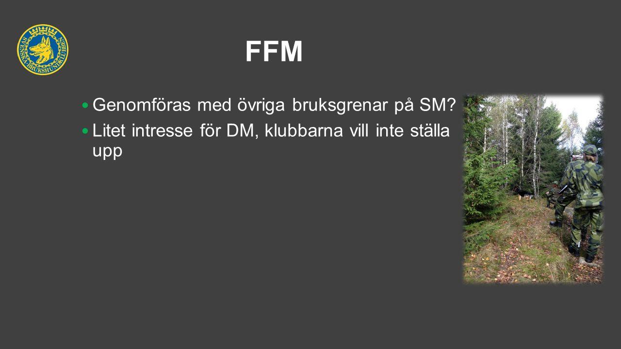 FFM Genomföras med övriga bruksgrenar på SM? Litet intresse för DM, klubbarna vill inte ställa upp