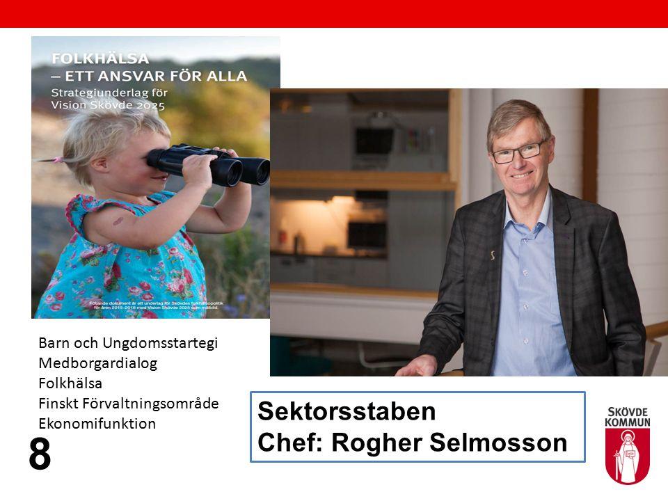 Sektorsstaben Chef: Rogher Selmosson 8 Barn och Ungdomsstartegi Medborgardialog Folkhälsa Finskt Förvaltningsområde Ekonomifunktion