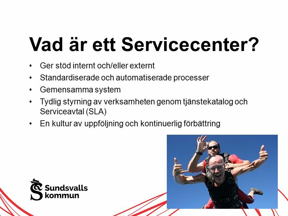 Vad är ett Servicecenter.