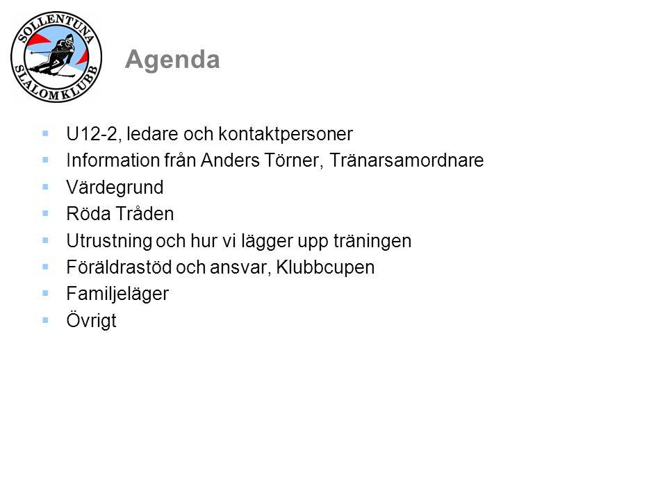 Tränare och kontaktpersoner Tränare:  U8 :1: Per Ekholm Christian Andersson Björn Hansson..