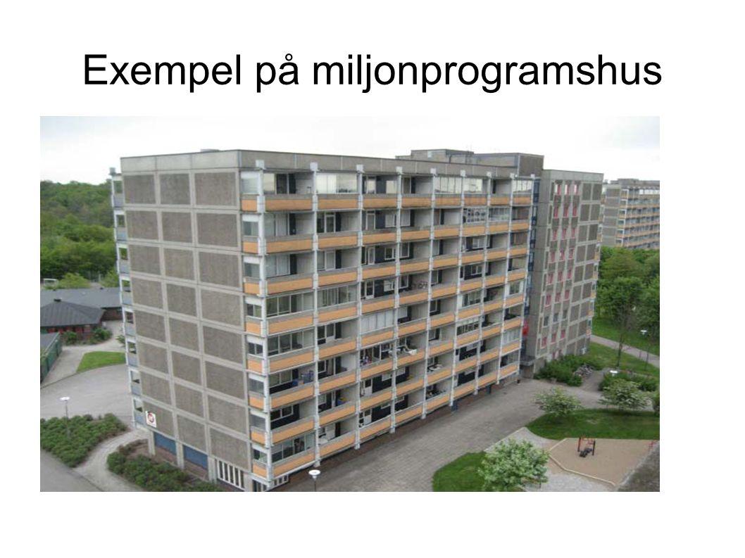 Exempel på miljonprogramshus