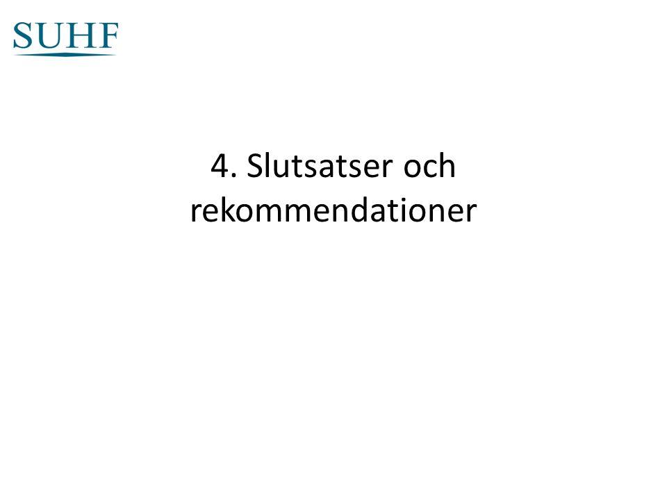 4. Slutsatser och rekommendationer