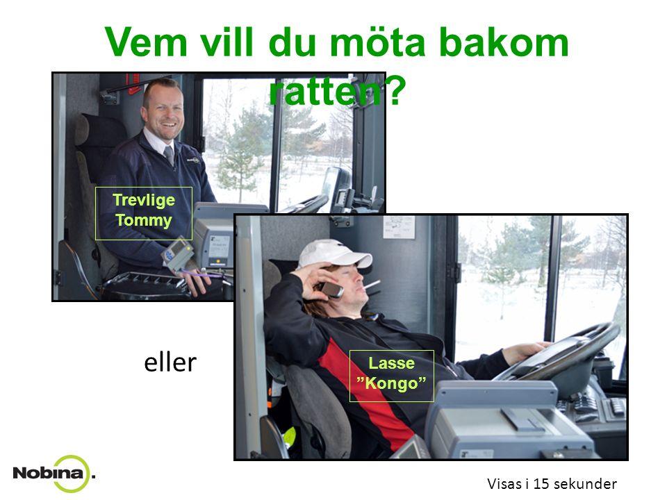 Vem vill du åka med? Visas i 15 sekunder Rally-Kalle eller med Proffsiga Petter?