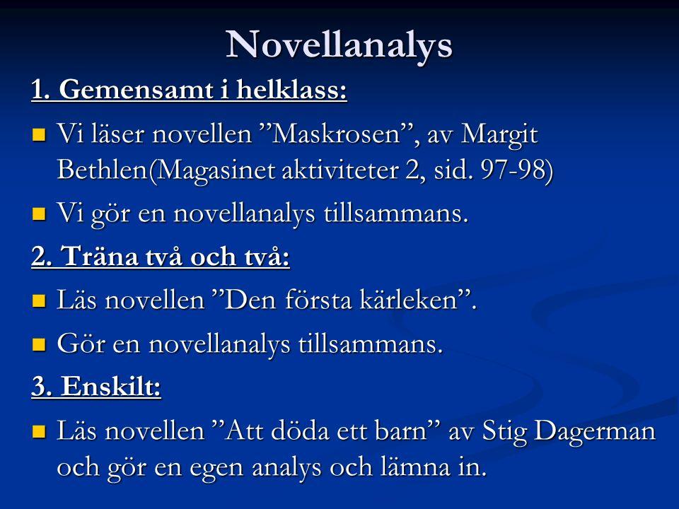 Novellanalys 1.
